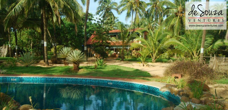 Goa luxury homes beach villa with a private pool candolim overview for Resorts in goa with private swimming pool